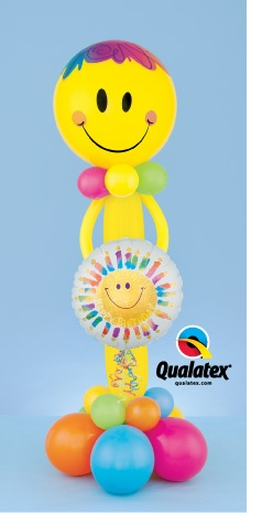 This colorful birthday character made out of #balloons is guaranteed to bring a smile to anyone's face. Click for instructions or visit qualatex.com to find a balloon professional near you.