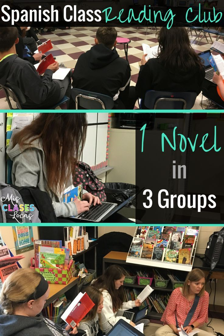 Differentiated reading club groups for a Spanish class novel in level 1
