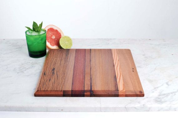 Re-purposed timber cutting board. Etsty Store - One of our elegant, larger boards made from timbers sourced from one of our architectural projects
