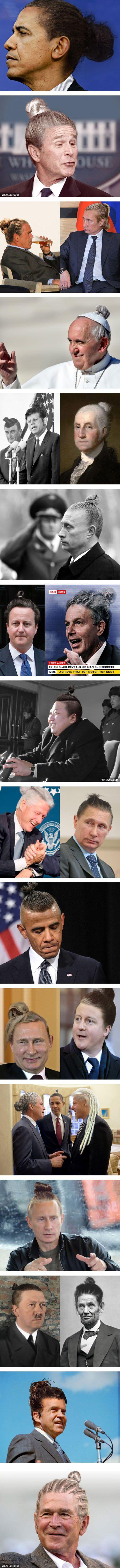 Famous Politicians Reimagined With Man Buns
