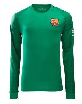 16-17 Cheap Barcelona Green LS Goalkeeper Replica Football Shirt [I00280]