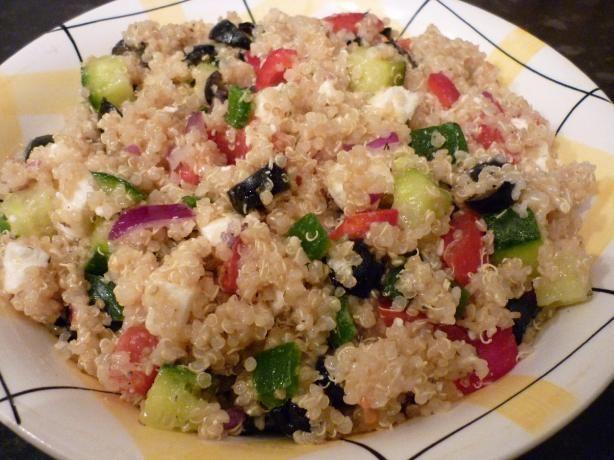 Quinoa Greek Salad. Photo by Summerwine