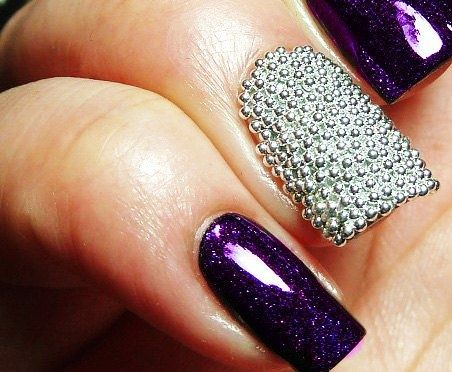 Uñas caviar, estilo y texturas en tus uñas #caviarnails | Decoración de Uñas - Manicura y Nail Art