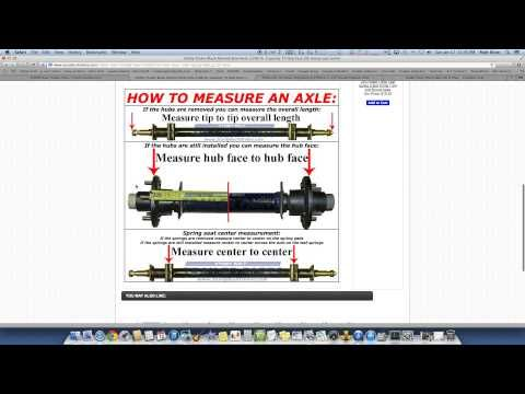 Utility Trailer Axles Fully Explained - How to Order the Correct Axle - YouTube