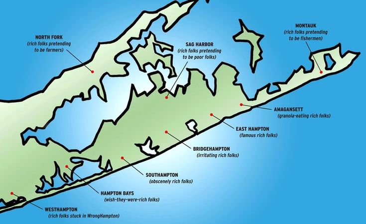 The Hamptons map  hilarious blog entry by Tracy G  Traveling