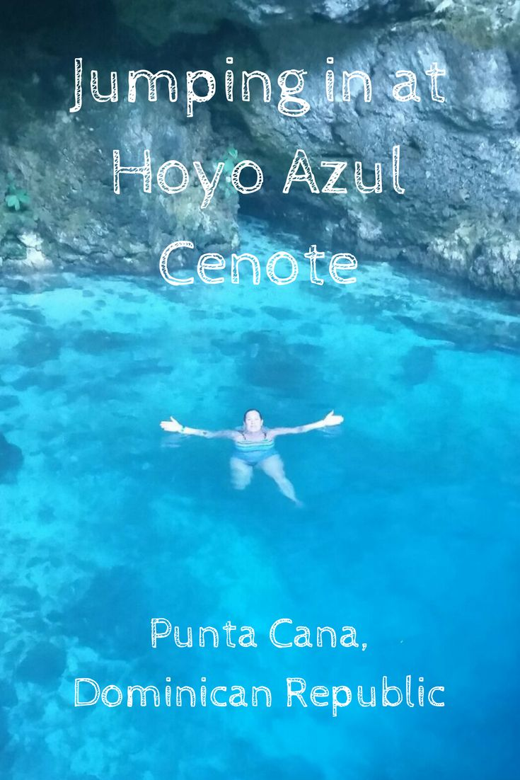 Hoyo Azul aka Blue Hole is a gorgeous cenote in Punta Cana, Dominican Republic. Click to read about getting there through Scape Park and my experience at Hoyo Azul. #Travel #PuntaCana #HoyoAzul  via @Jessica_A_Walsh