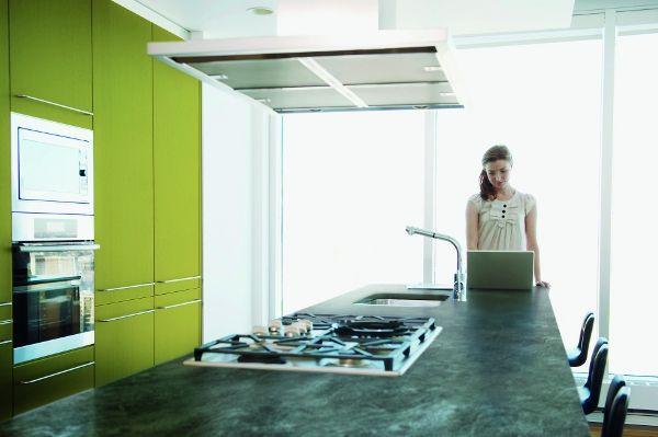 Hornfels worktop, urban style, Pfleiderer
