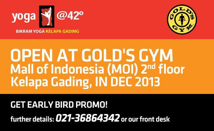 We are sweating in kelapa gading.  mall of indonesia 2nd floor.  www.bikramyogajakarta.com