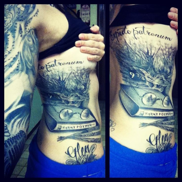 25 Best Ideas About Tribute Tattoos On Pinterest: Most Recent Side Piece Tribute To Harry Potter Tattoo