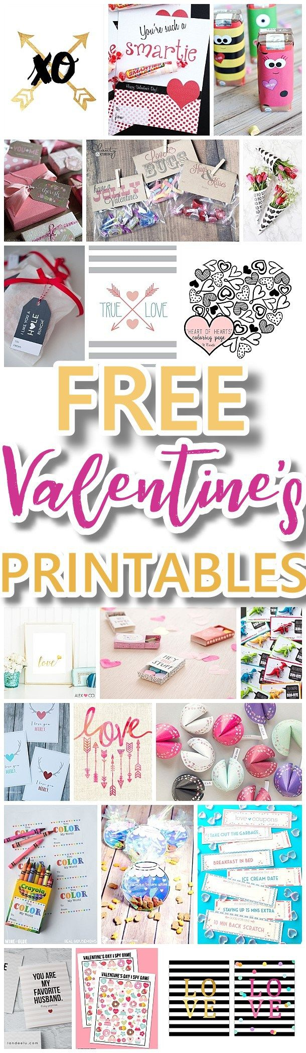 The BEST Valentine's Day FREE Printables – Kids Classmate Cards, Valentine Party Decorations, Hearts, Love, Red and Pink Themed Artwork Home Decor and Holiday Greeting Cards for your Sweethearts!