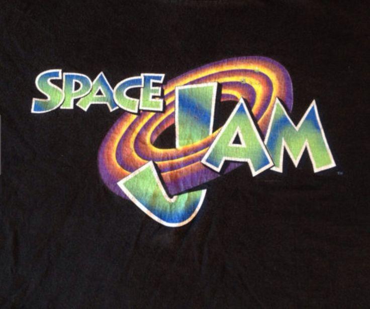 Vintage Space Jam Movie T Shirt Michael Jordan Bugs Bunny Looney Toons
