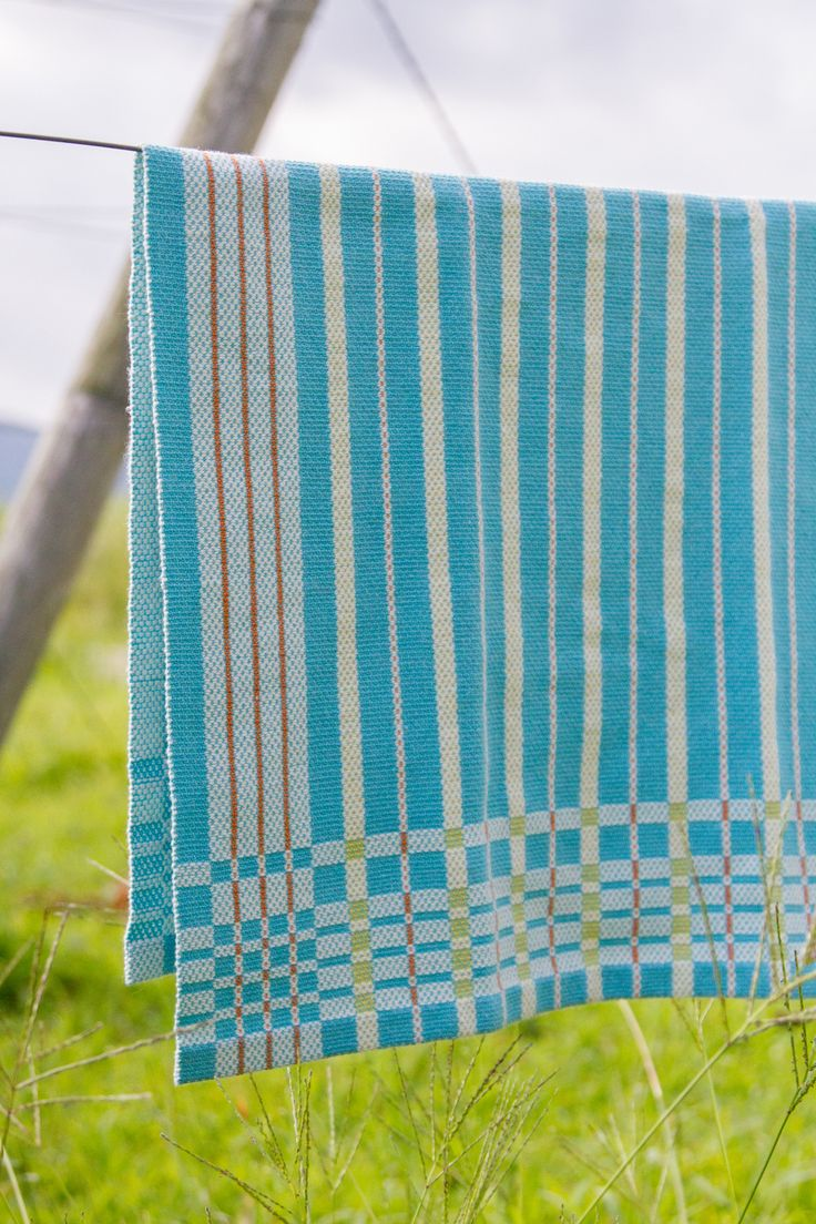 New Summer Garden Towel weaving draft—warp is Valley Yarns 10/2 Valley Cotton and weft uses our new Valley Yarns 6/2 Cotton (all colors now in stock!).