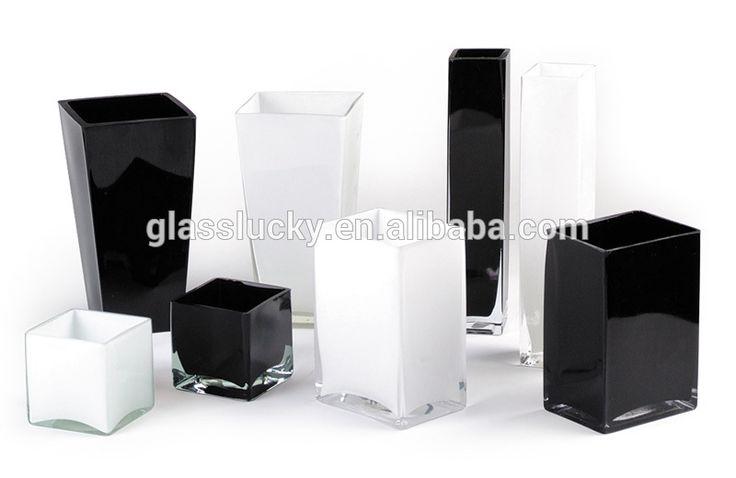 Alta transparente mão soprado vaso de vidro quadrado para decoração de casamento-imagem-Vasos de vidro e cristal-ID do produto:60237776921-portuguese.alibaba.com