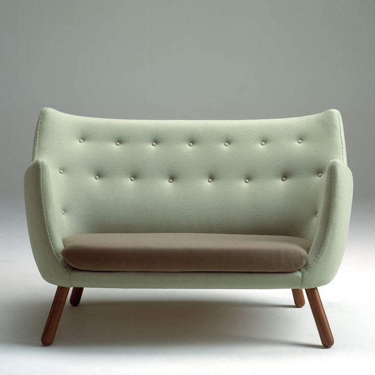 Finn Juhl Sofa - Danish Modern, 1940's wool & teak. i like danish modern furniture because it looks like it was grown rather than constructed.