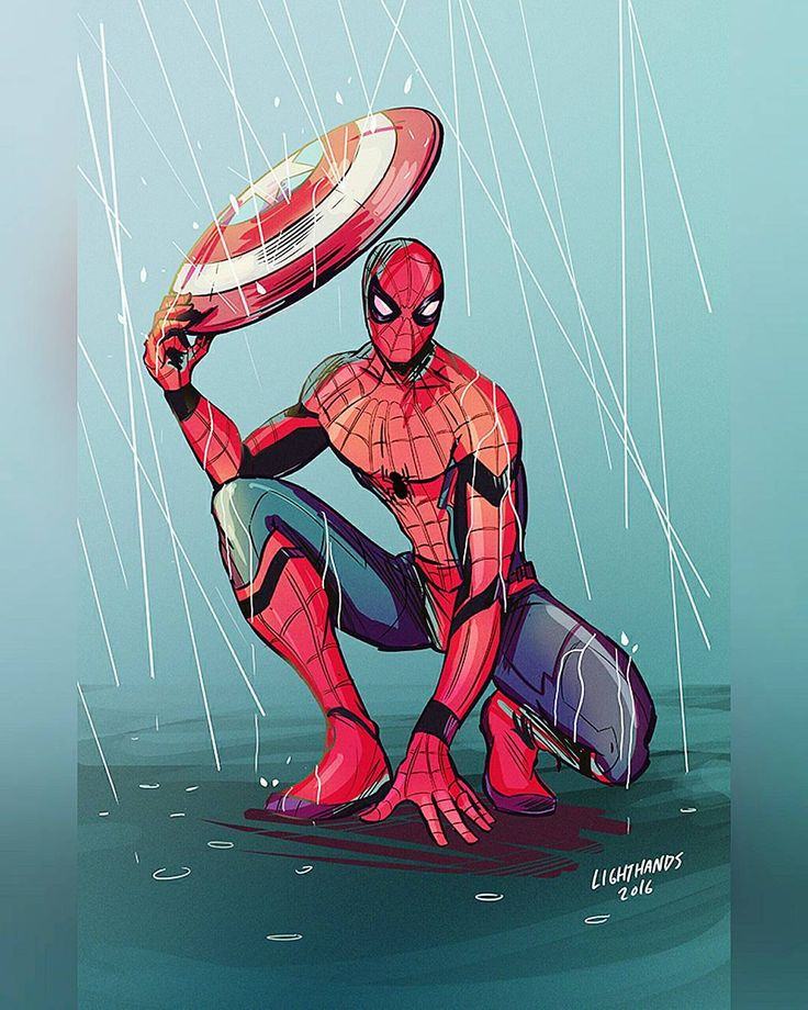 Art  Johnny Lighthands on Behance #Spiderman #Marvel by devilzsmile.com #devilzsmile