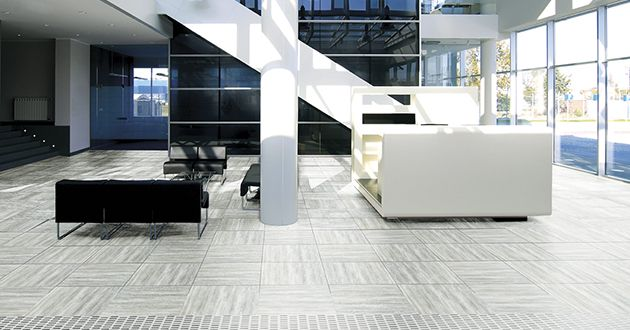 To complete a modern look for your office or home, consider #Teakwood in white or grey. #colortile #commercialspace #sydneytiles #porcelaintiles