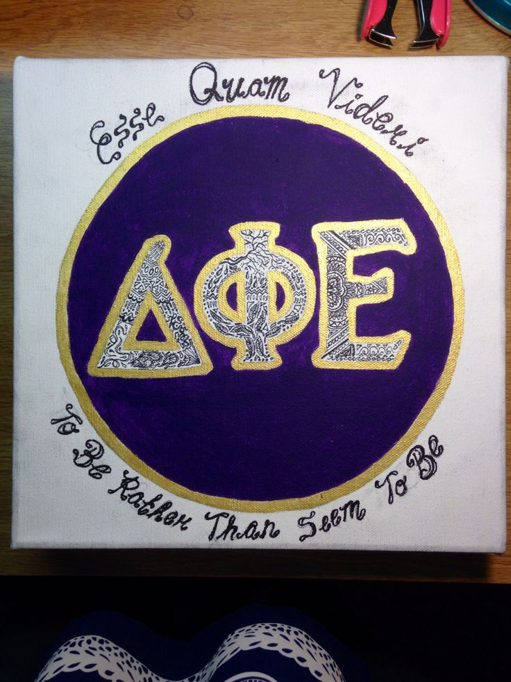 Delta Phi Epsilon Sorority Decor