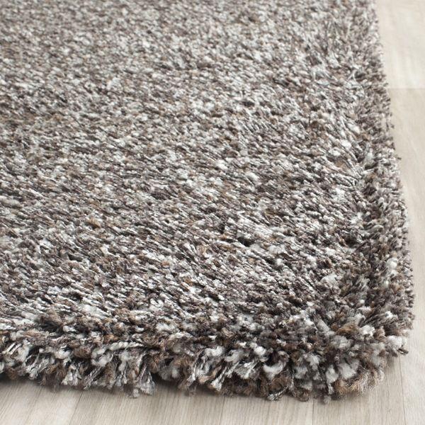 safavieh new york shag grey rug (8' x 10') - overstock™ shopping
