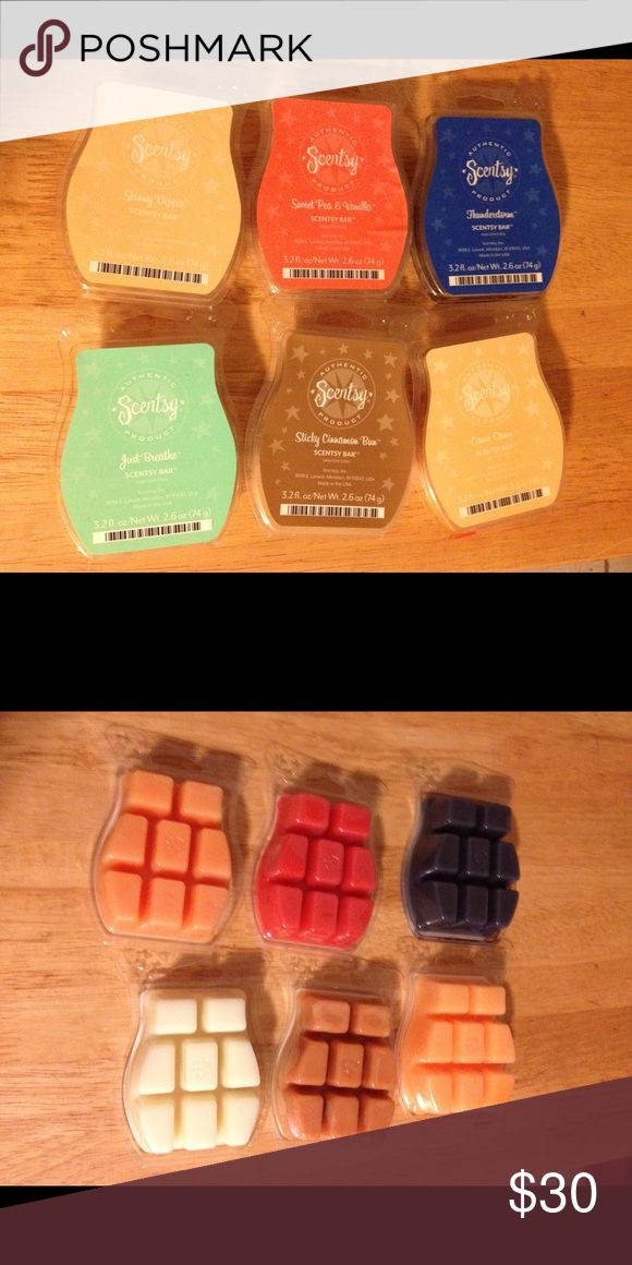 Scentsy Scentsy lot for sale.  Will not separate-sorry!  All are new and never opened.     Just breathe  Skinny dippin Sticky cinnamon bun  Camu Camu Thunderstorm  Sweet pea and vanilla Other