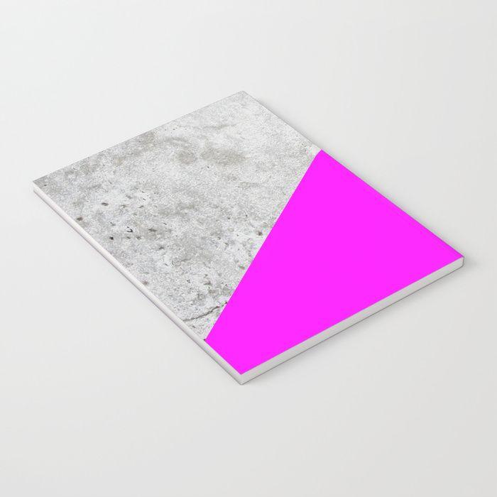 Concrete Arrow Neon Purple 728 Notebook By Natural Collective Co Geometric Concrete Wall Granite Modern Tr Neon Purple Arrow Design Geometric