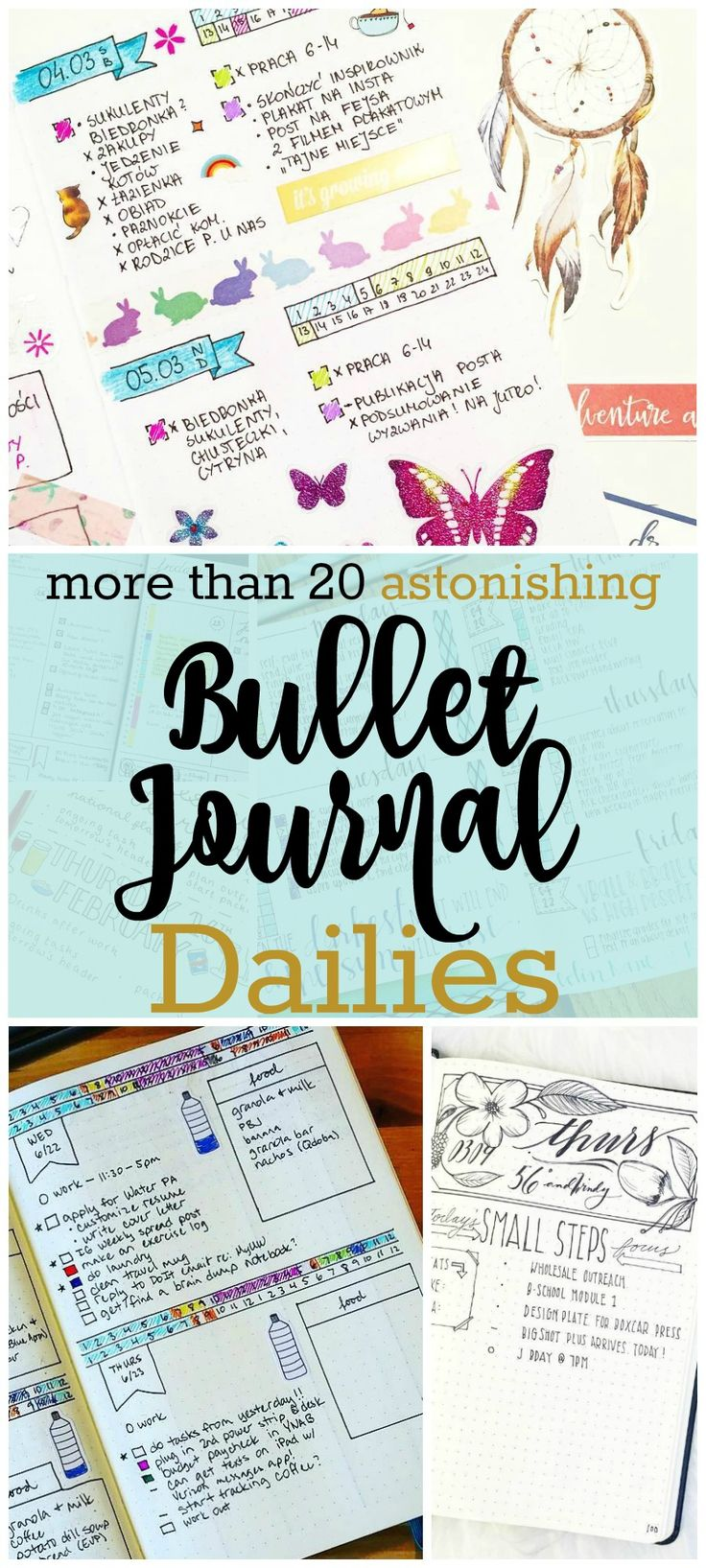 Bullet Journal Dailies are the cornerstone of the bullet journal system. Not sure how to get started? Check out more than 20 of my favorite bujo dailies.