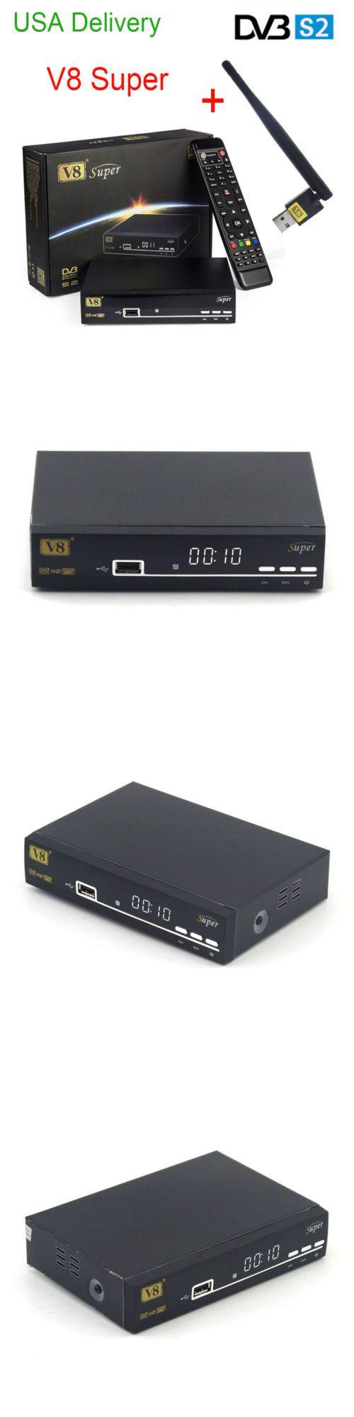 Satellite TV Receivers: Hd Freesat V8 Super Dvb-S2 Digital Satellite Receiver Full 1080P With Usb Wifi U BUY IT NOW ONLY: $41.0