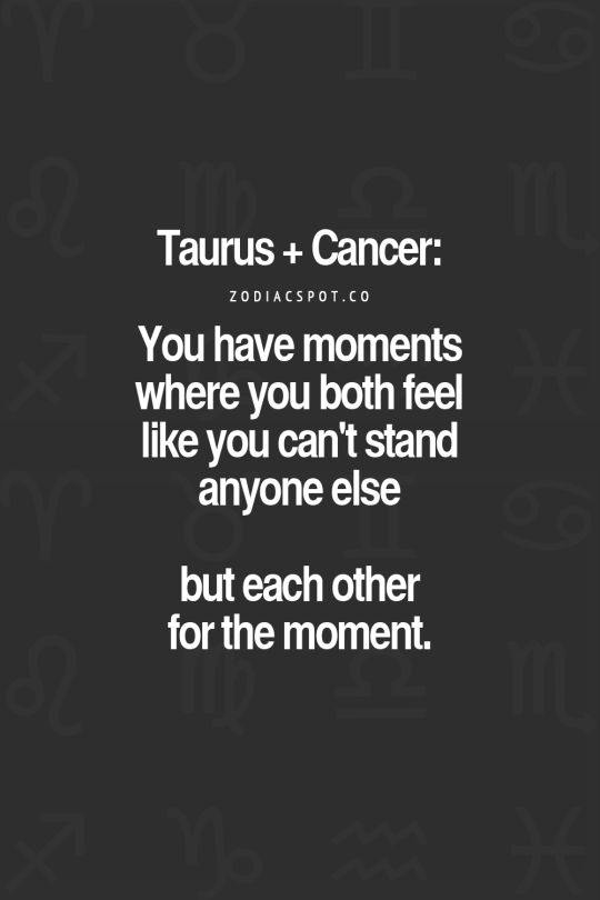 Cancer and taurus sex
