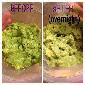 How to keep guacamole green overnight