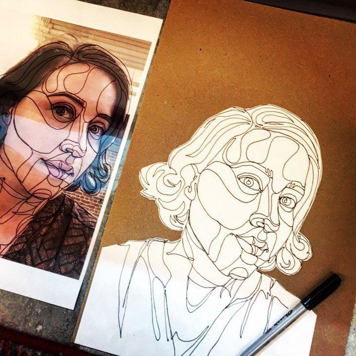 loopy contour line demo! #arted #artteacher #arteducation #artteachersofinstagram #drawing #contourlines
