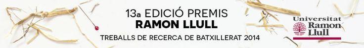 La Universitat Ramon Llull convoca la 13a edició dels Premis Ramon Llull a Treballs de Recerca de Batxillerat amb l'objectiu de fomentar l'esperit de recerca, despertar vocacions per a l'estudi i la investigació i incentivar la tasca educativa que es porta a terme als centres escolars.