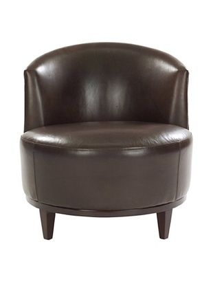 Leathercraft Accent Chair (Durham Peppercorn/Anaconda Chicory)
