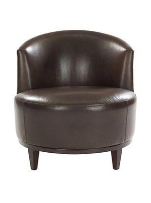Leathercraft Accent Chair (Durham Peppercorn/Anaconda Chicory)