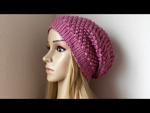 How To Crochet A Raspberry Stitch Hat, Lilu's Handmade Corner Video # 84 - YouTube