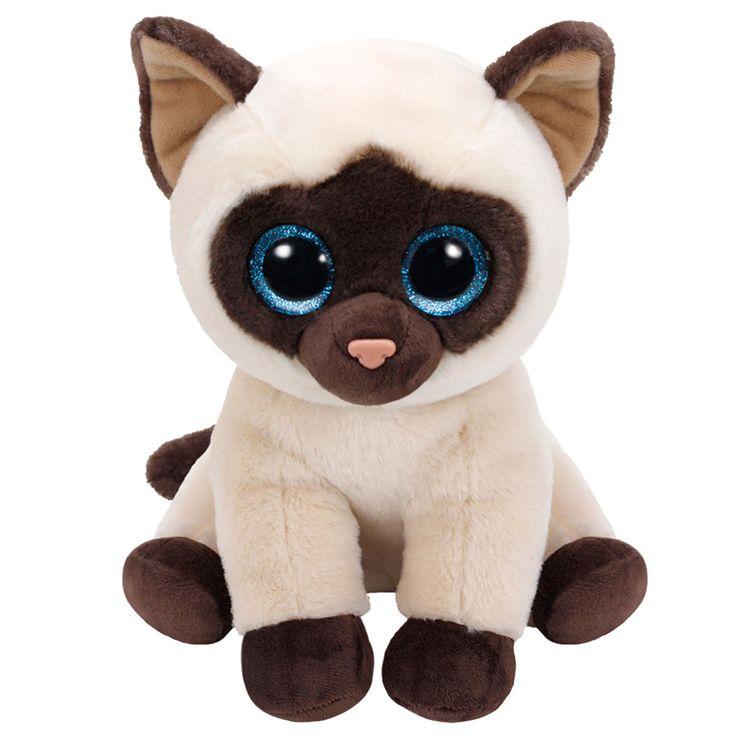 Ty Classic pluchen knuffel genaamd Jaden. Deze Siamese kat is 33 cm groot en heeft een blauwe glinstering in haar ogen. Jaden is super zacht waardoor het heerlijk is om met haar te knuffelen. Dankzij de stevige vulling onderin blijft de Ty Classic ook los gemakkelijk rechtop staan. Afmeting: lengte 33 cm - Ty Classic Knuffel Siamese Kat Jaden