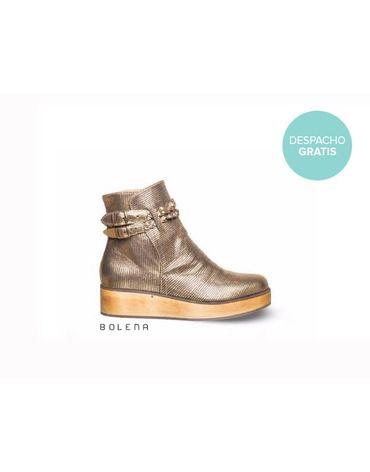 Botín Alexa Dorado | Chilean handmade shoes