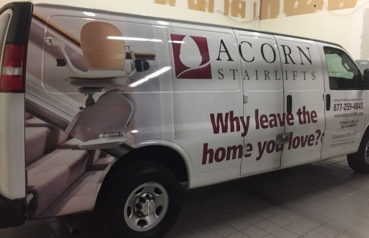 Acorn Stairlifts shows off with #VehicleGraphics in #WethersfieldCT.