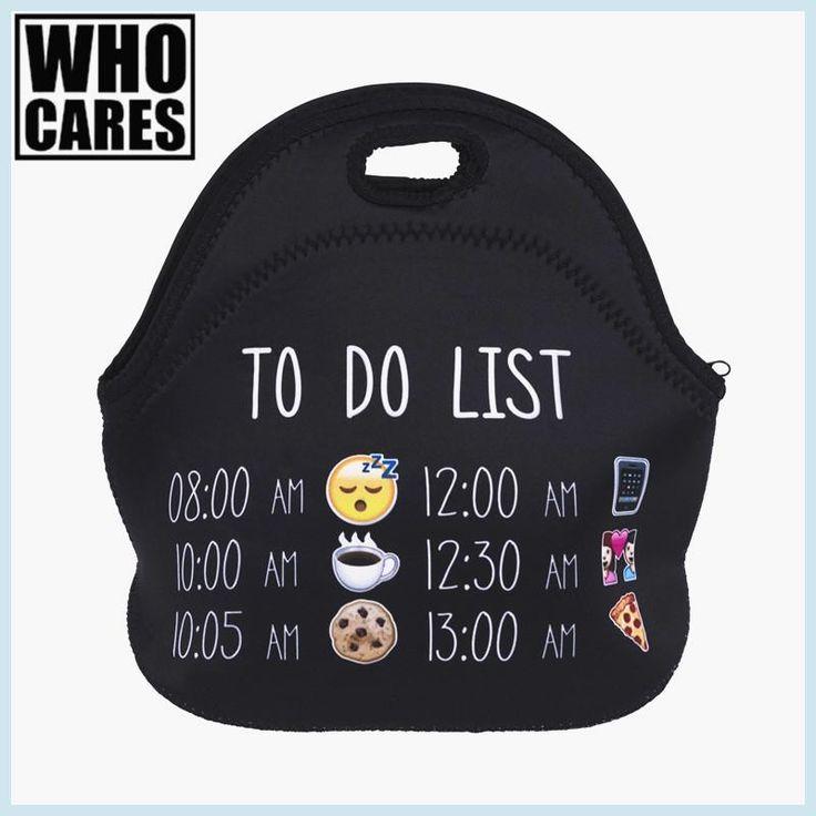 To Do List Emoji 3D Printing insulated lunch bag bolsa termica lunch bags for women bolsa comida lancheira nevera portatil bags