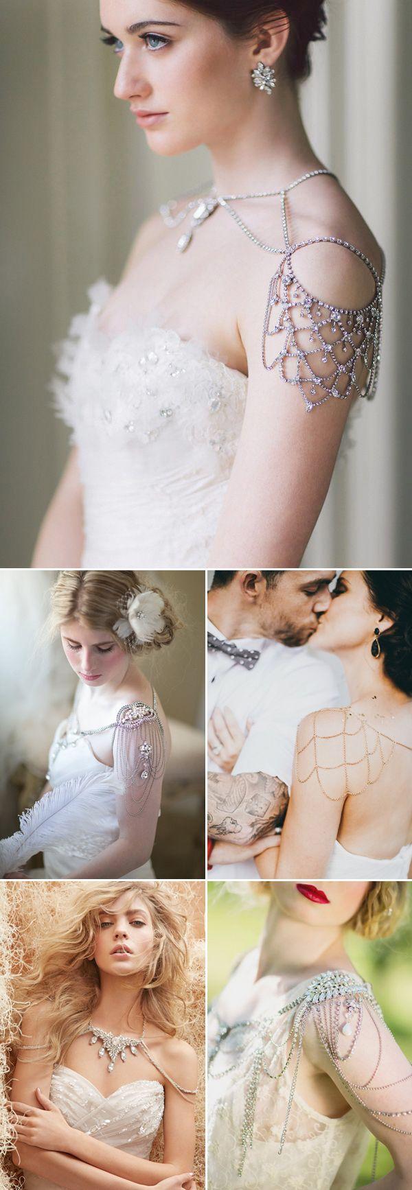 http://rubies.work/0435-sapphire-ring/ Fantastic shoulder necklaces for your wedding. Let's talk about some bling girl Comment/gemjunkiejewels Via:praise wedding.com