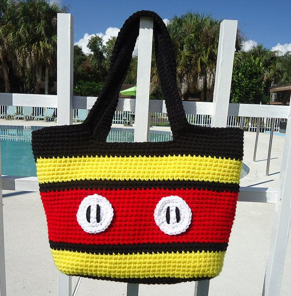 Totally Mickey Tote Crochet Pattern by thepinkquill on Etsy, $2.00