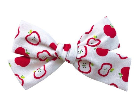 2X Small Daisy White Cotton Hair Clip Baby Toddler Girl Hair Bow Fabric Bow