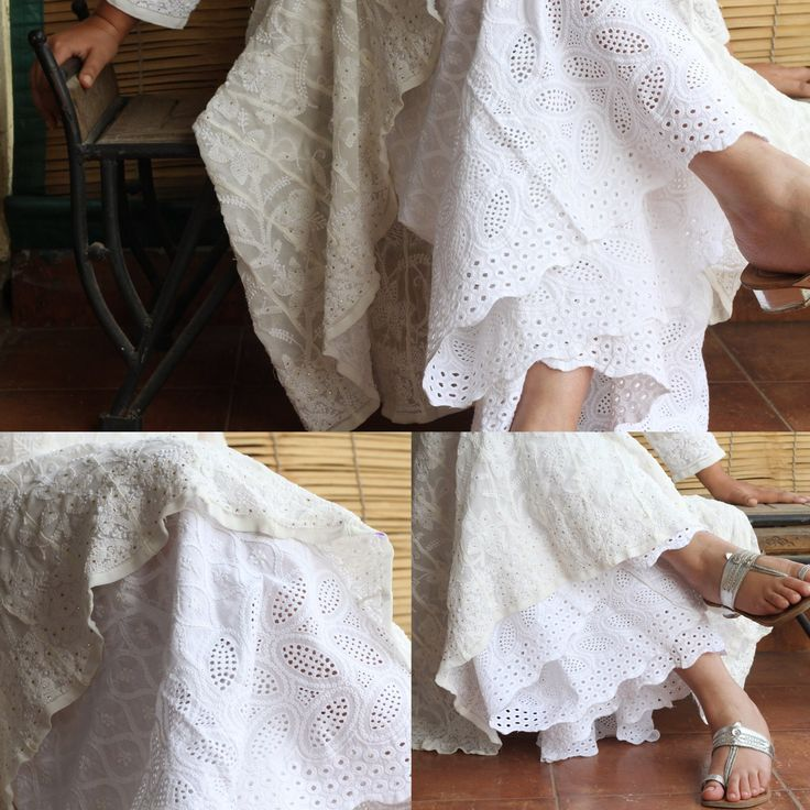 The Lucknow Chikankari Mul Sharara by Meiraas!!! Because grace never goes out of…