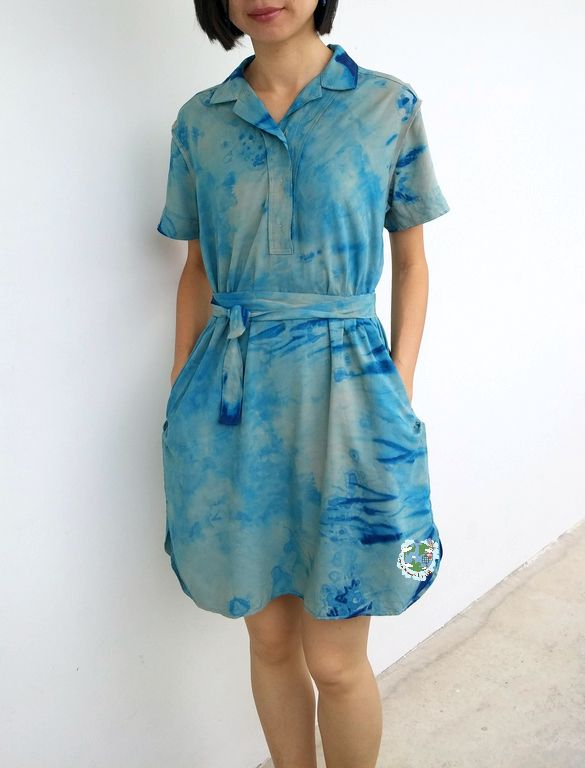 How to do shibori dyeing on your old clothes. It's easy!