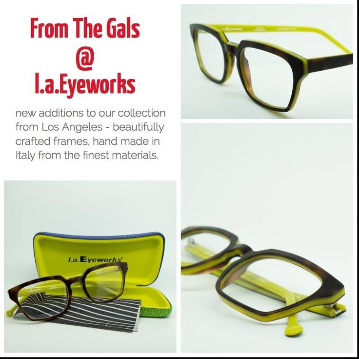 Conceived in Los Angeles, hand made in Italy and now part of our exquisite eyewear collection right here in Nelson. The new creations from the gals at #laEyeworks are arriving. Colourful, bold and unique.  #Kuske #KuskeEyewear #KuskeNelson #ExquisiteEyewear