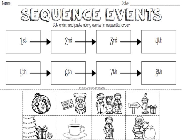 Sequencing FREEBIE available in the PREVIEW on TPT!   http://www.teacherspayteachers.com/Product/The-Polar-Express-Book-Companion-1554295