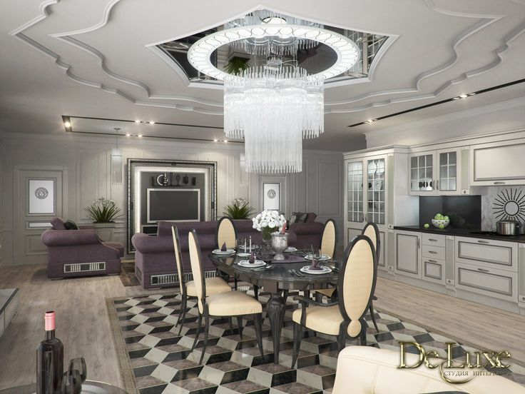 Amazing project for a luxury  villa in Krasnojarsk.#Deluxe design studio uses the famous Tv stand signed Vismara Design in Art Deco style to enrich its projects. #vismaradesign #livingroom #interiodesign #luxuryinterior