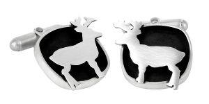 Deer sterling silver cufflinks by my Friend Romeo - $295