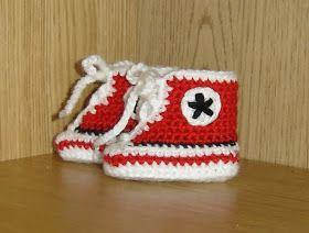 Det är säkert många som redan sett dessa urgulliga små skor till bebisar, men att hitta ett lätt mönster att virka efter som även är gratis...