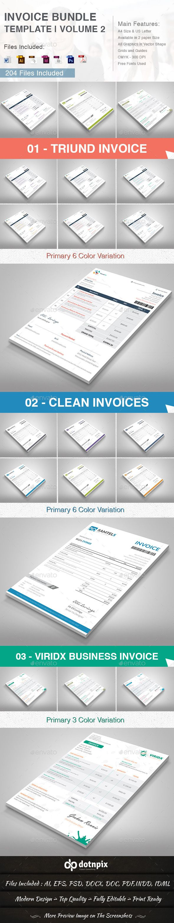 Invoice Bundle Template Volume 2