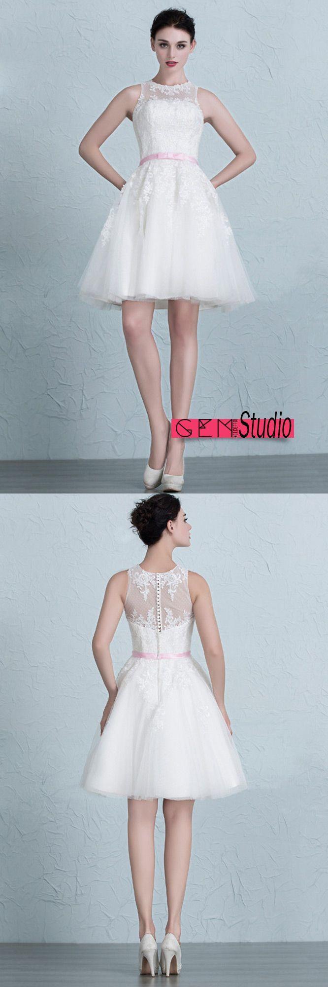 816 besten Sweet & Short Wedding Dress Bilder auf Pinterest