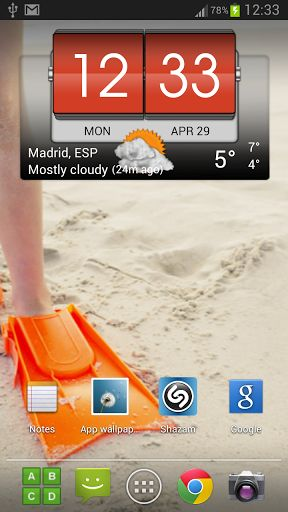 3D Flip Clock & World Weather Pro v2.51.06 [Paid]   3D Flip Clock & World Weather Pro v2.51.06 [Paid]Requirements:2.3Overview:3D Flip clock & world weather widget is a full featured.  Description The widget features the following: - Several widget skins to choose from - Different weather icon skins - Different fonts for the time - Display the next alarm next calendar event and week number on the widget (optional) - Several widget (most of them can be user defined to launch specific…